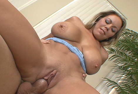 Amber Lynn Bachs huge boobs bounce astonishingly she rides hard on huge cock