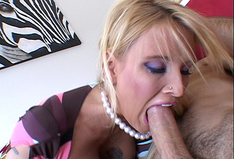 Barbi Baja wraps her juicy pussy lips around huge cock deep sucking