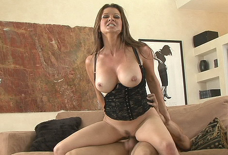 Sexy milf Raquel Devine grinding slippery slot on massive pussy basher
