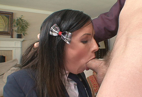 Ashli Orion Schoolgirl Deepthroat